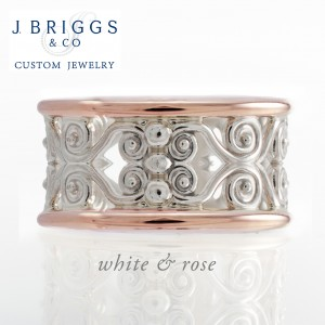 Filigree Two Tone Wide Band