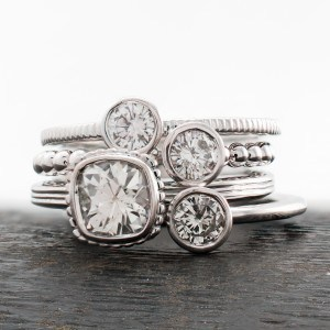 Stackable Diamond Rings by J. Briggs