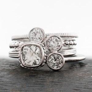 Stackable Diamond Rings by J. Briggs