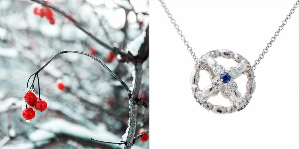 Sfera Sapphire Diamond Pendant Necklace